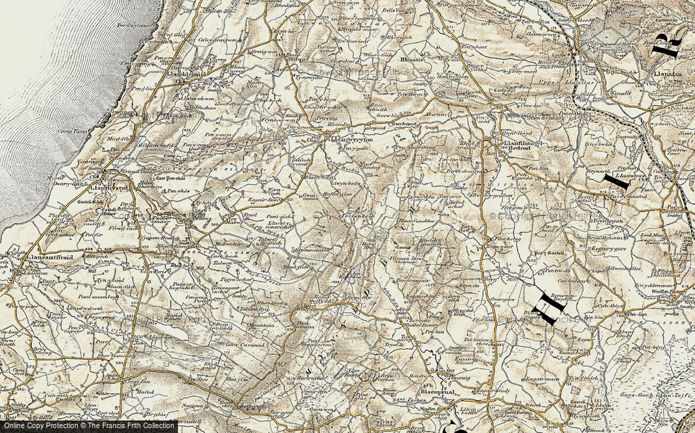 Old Map of Historic Map covering Bancllyn in 1901-1903
