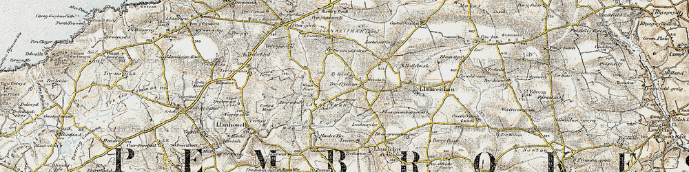 Old map of Abernant in 0-1912