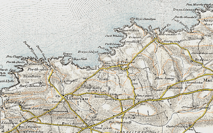 Old map of Aber Draw in 0-1912