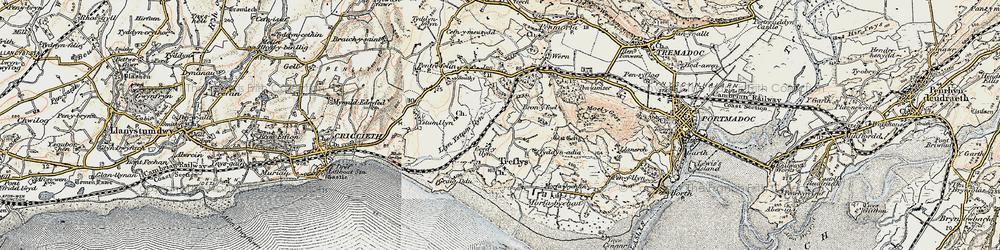 Old map of Treflys in 1903