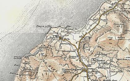 Old map of Trefor in 1903