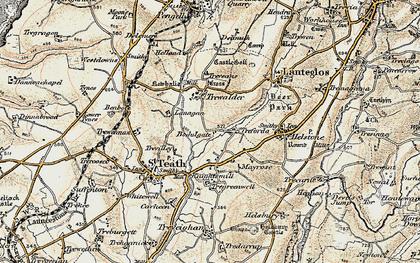 Old map of Treforda in 1900