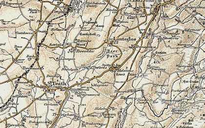 Old map of Treforda in 1900