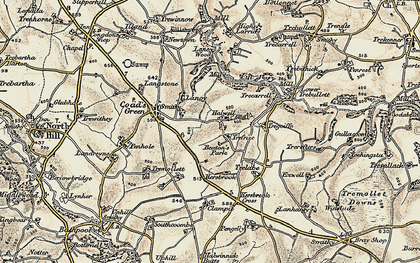 Old map of Trefrize in 1900