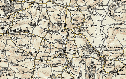Old map of Tregada in 1899-1900