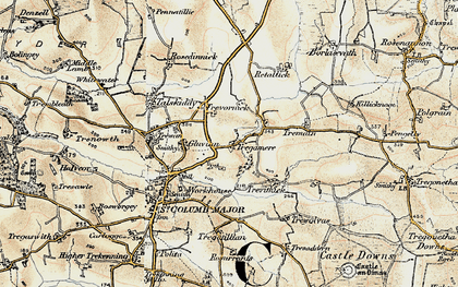 Old map of Tregamere in 1900