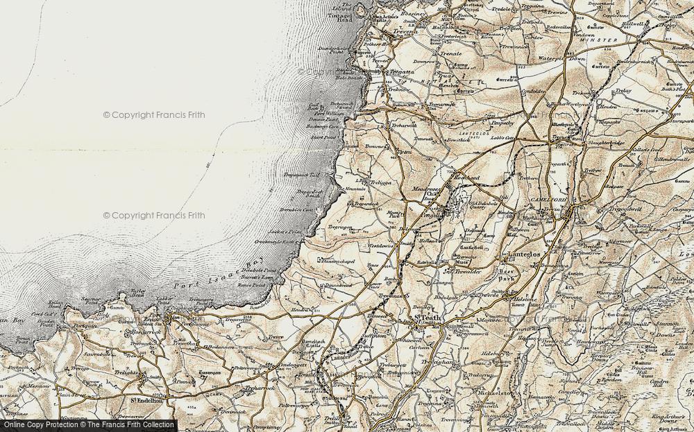 Old Map of Tregardock, 1900 in 1900