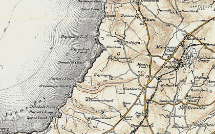 Old map of Tregardock in 1900