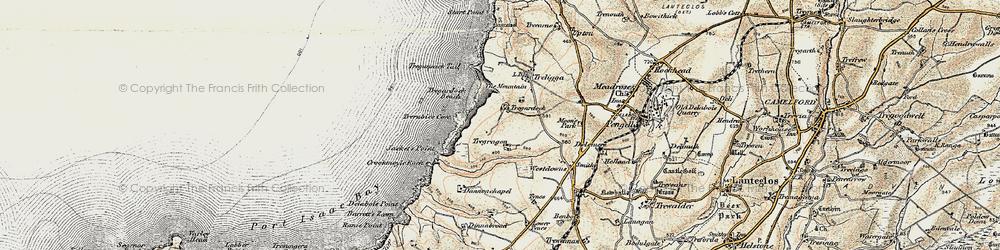 Old map of Tregardock in 1900