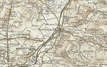 Old map of Banc Tan-yr-allt in 1901-1903