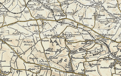 Old map of Lanzion in 1900
