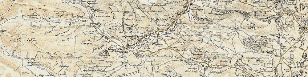 Old map of Ael-y-coryn in 1902-1903