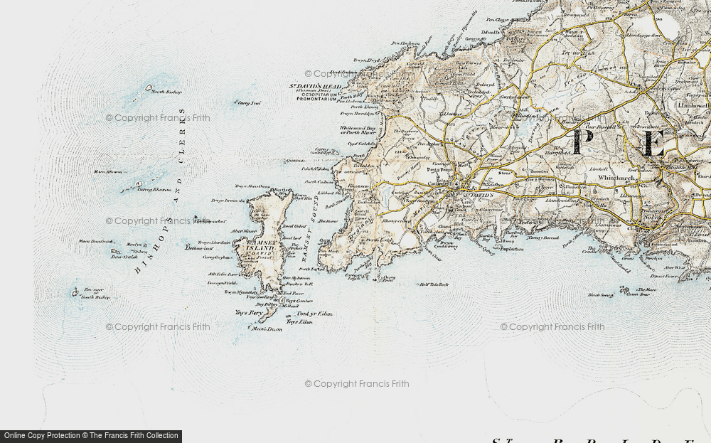 Old Map of Historic Map covering Aber Mawr in 0-1912