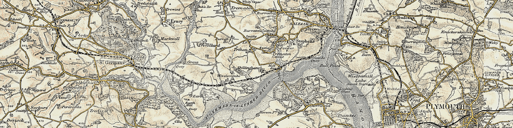 Old map of Wivelscombe in 1899-1900