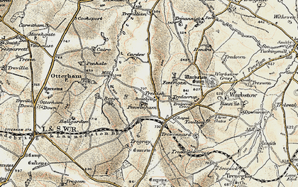 Old map of Youlstone in 1900