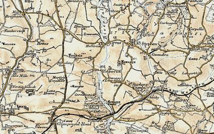 Old map of Tolgarrick in 1900