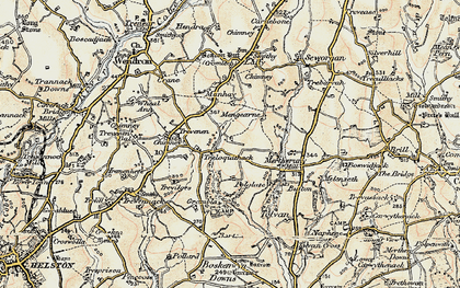 Old map of Tolvan in 1900