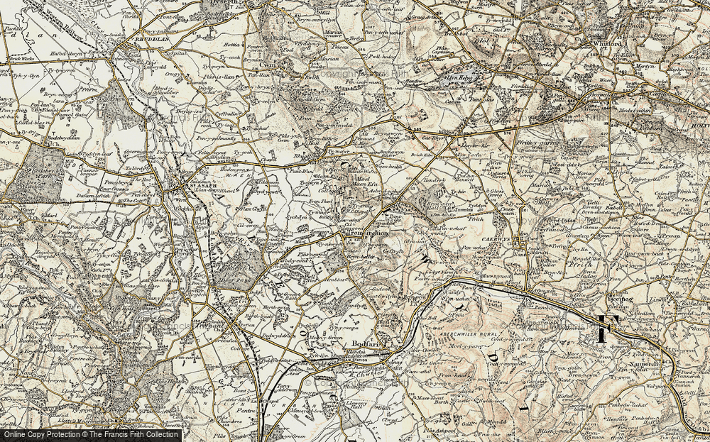 Old Map of Historic Map covering Aelwyd-uchaf in 1902-1903
