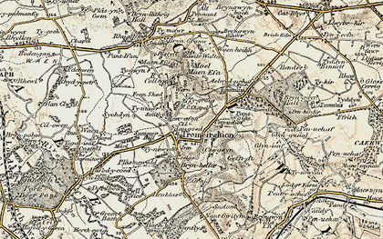 Old map of Aelwyd-uchaf in 1902-1903