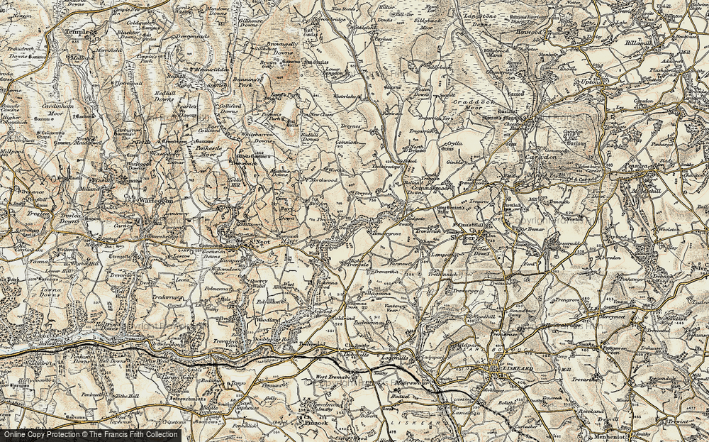 Old Map of Historic Map covering Whitebarrow Downs in 1900