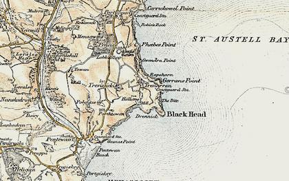 Old map of Trenarren in 1900