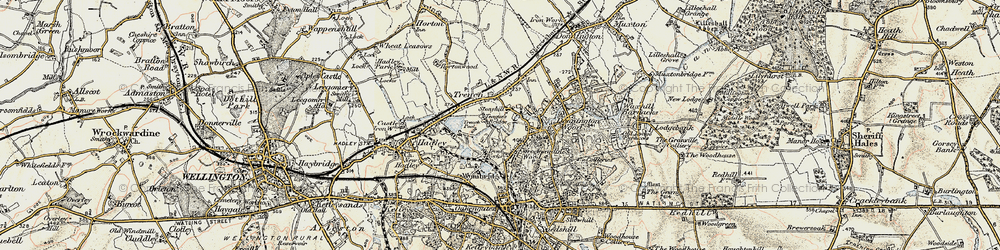 Old map of Trench in 1902