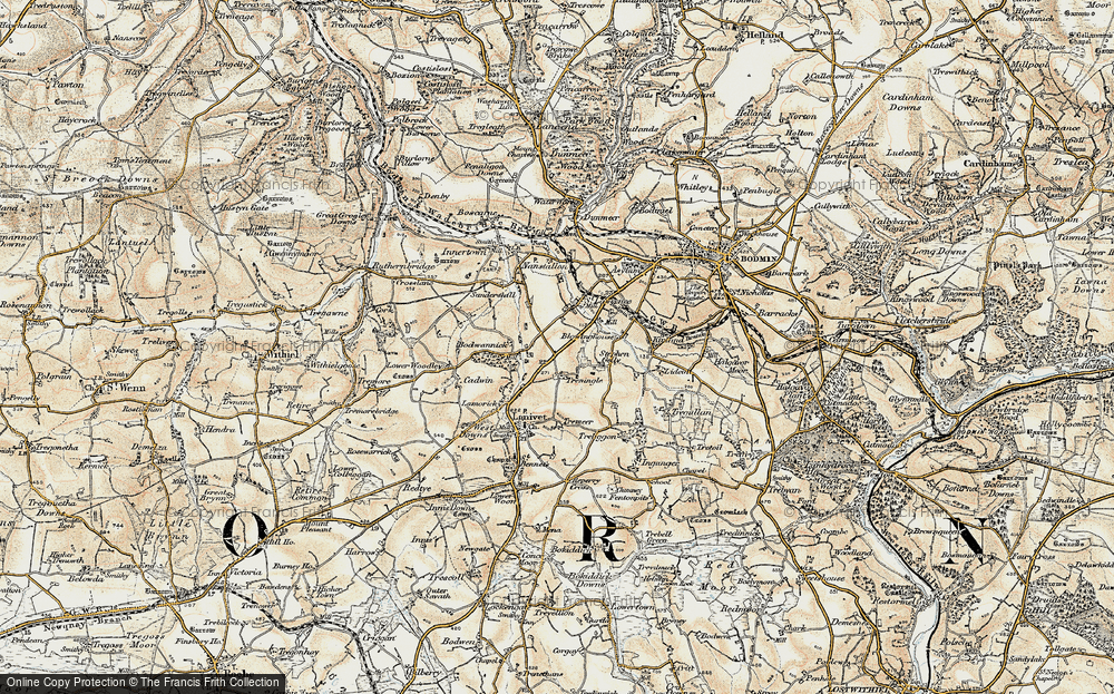 Old Map of Historic Map covering Laninval Ho in 1900