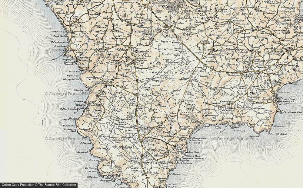Old Map of Historic Map covering Leech Pool in 1900
