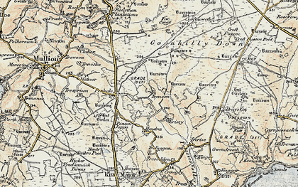 Old map of Leech Pool in 1900