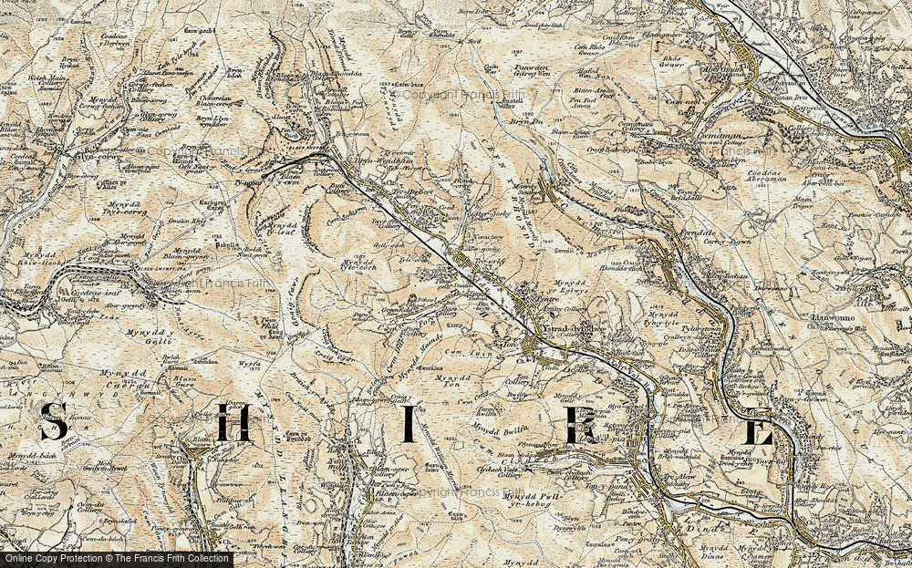 Old Map of Treorchy, 1899-1900 in 1899-1900