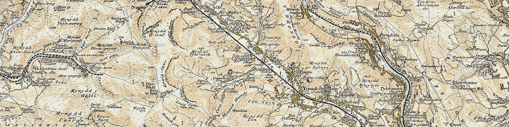 Old map of Treorchy in 1899-1900