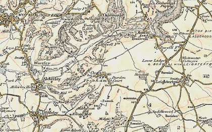 Old map of Yewtree Hill in 1898-1899