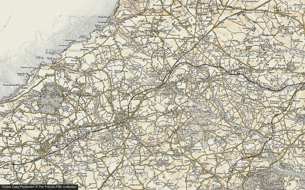 Old Map of Treskerby, 1900 in 1900