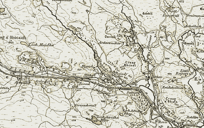 Old map of Ardichoncherr in 1910-1912
