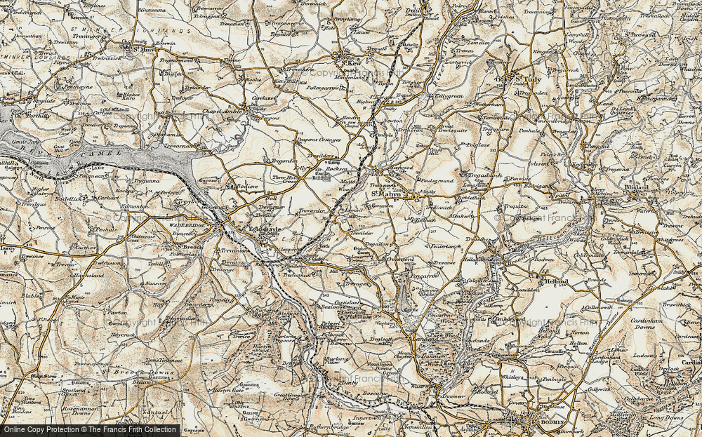 Old Map of Historic Map covering Lemail in 1900