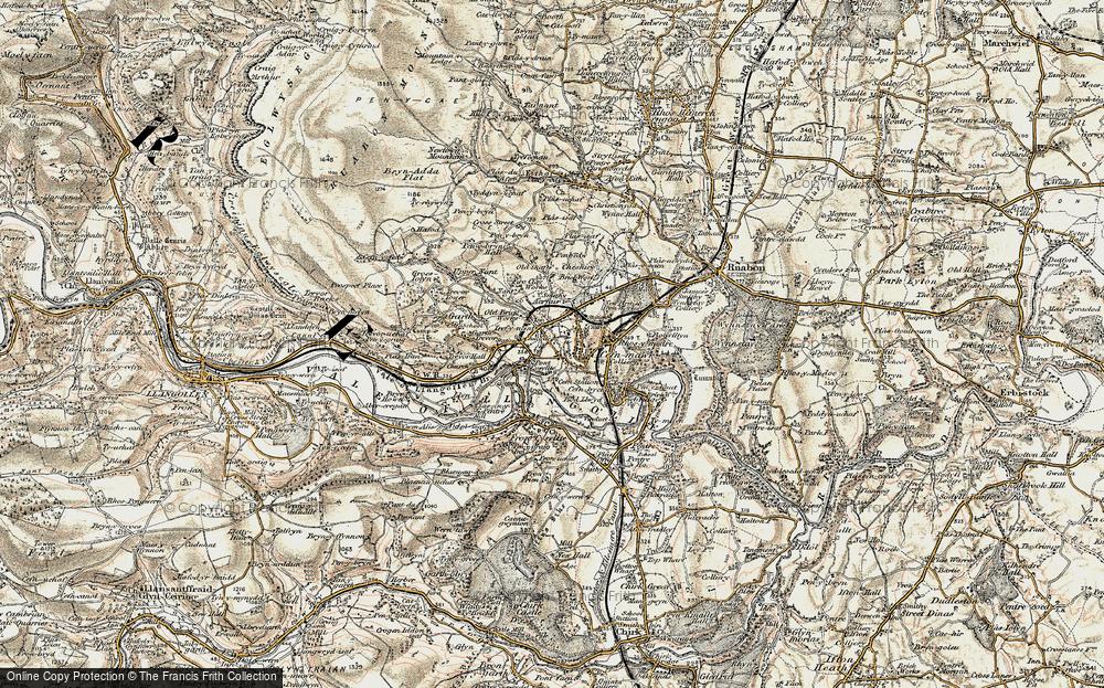 Old Map of Trevor, 1902-1903 in 1902-1903