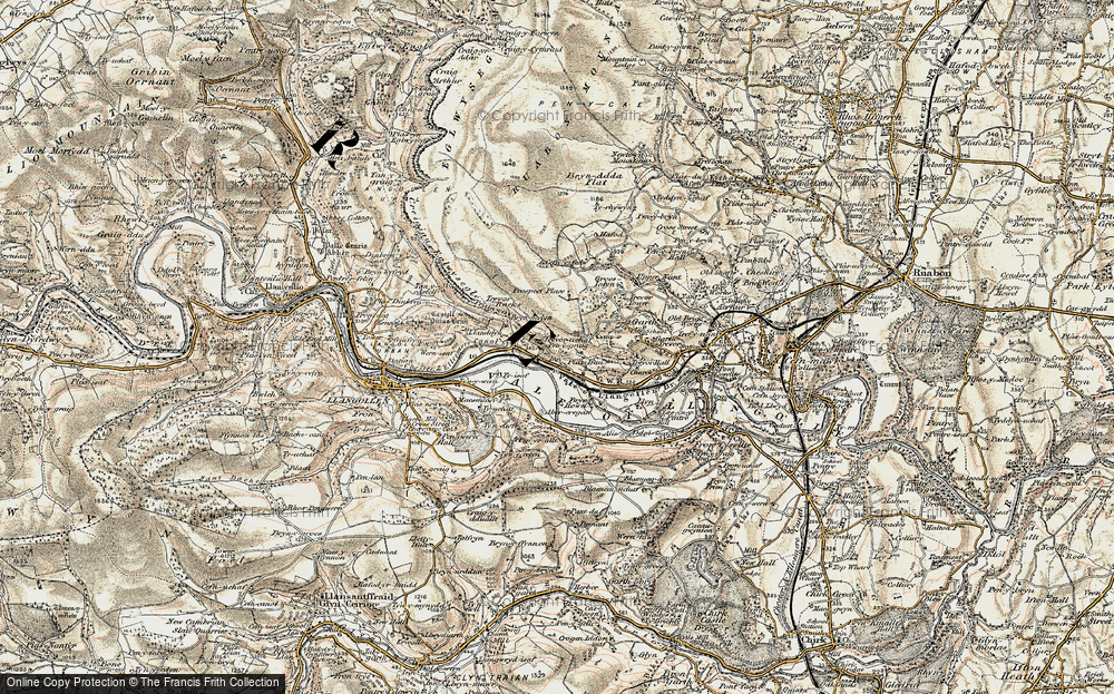 Old Map of Historic Map covering Abercregan in 1902-1903