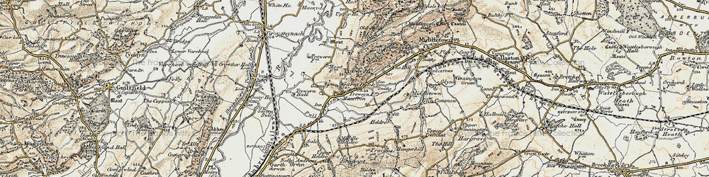 Old map of Yewtree Ho in 1902-1903