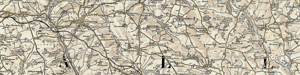 Old map of Westdown Wood in 1900