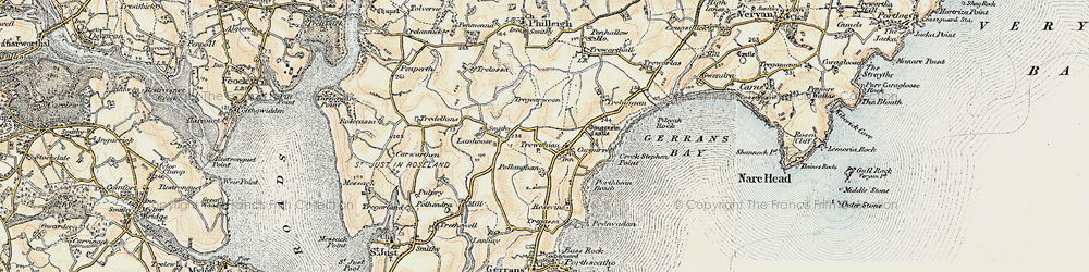 Old map of Trewithian in 1900