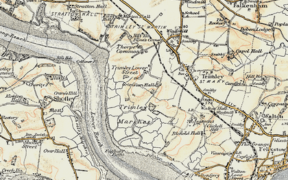 Old map of Trimley Lower Street in 1898-1901