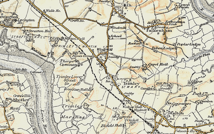 Old map of Trimley St Martin in 1898-1901