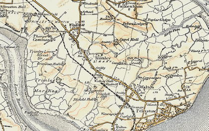 Old map of Trimley St Mary in 1898-1901
