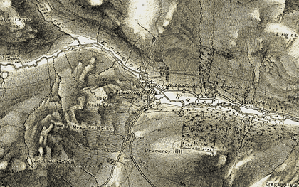 Old map of Tomcraggach in 1906-1908