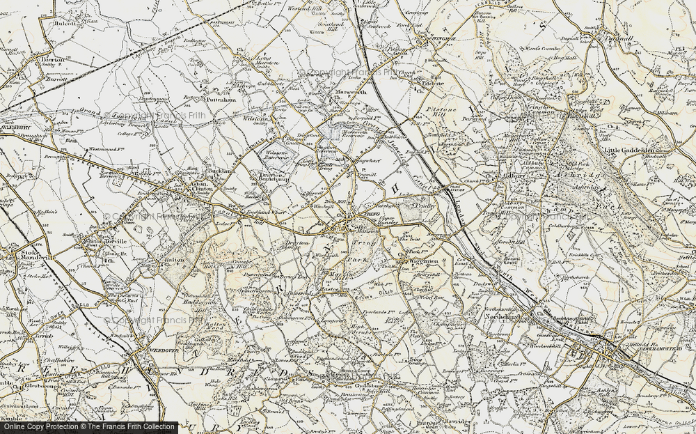Old Map of Tring, 1898 in 1898