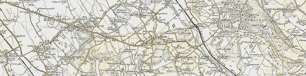 Old map of Tring in 1898