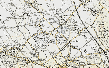 Old map of Tringford in 1898