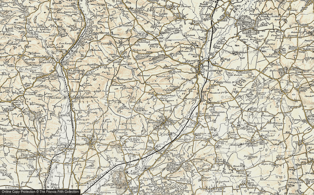 Old Map of Historic Map covering Bagmore in 1898-1900