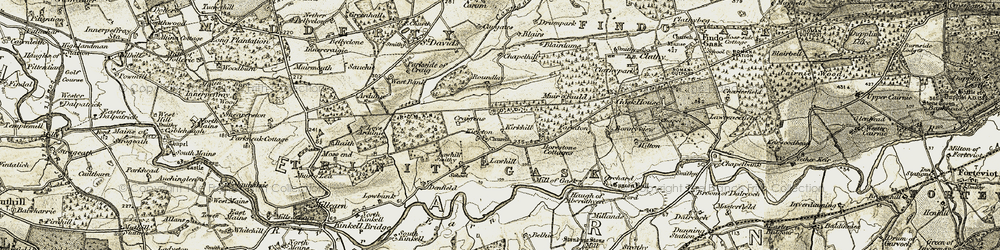 Old map of Lawhill in 1906-1908