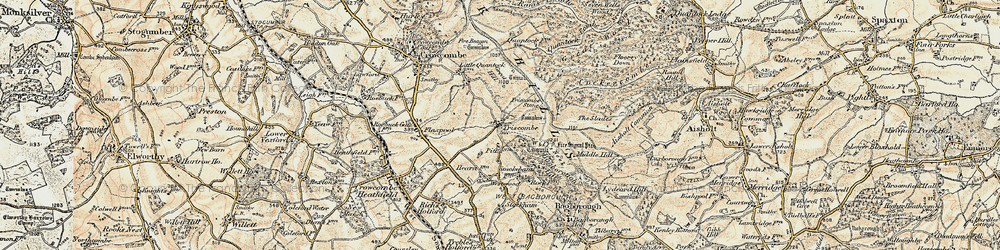 Old map of Wills Neck in 1898-1900